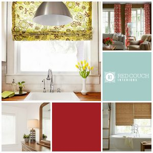 Red Couch Interior Window Treatment Tips